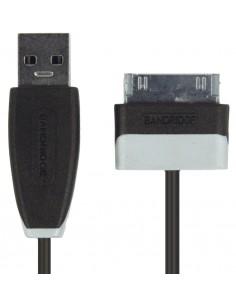 Bandridge 1m USB - Lightning m/m matkapuhelimen kaapeli Musta A Samsung 30-pin Bandridge BBM39200B10 - 1