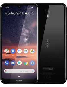 "Nokia 3.2 15.9 cm (6.26"") 2 GB 16 4G Micro-USB Musta Android 9.0 4000 mAh Nokia 719901071341 - 1"