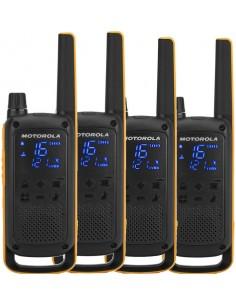 Motorola Talkabout T82 Extreme Quad Pack radiopuhelin 16 kanavaa Musta, Oranssi Motorola 188082 - 1