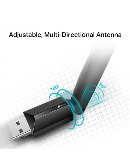 TP-LINK AC600 High Gain Wireless Dual Band USB Adapter WLAN 600 Mbit/s Sisäinen Tp-link ARCHER T2U PLUS - 6