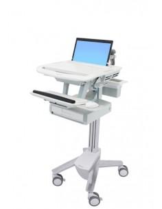 Ergotron StyleView Alumiini, Harmaa, Valkoinen Kannettava tietokone Multimediakärry Ergotron SV43-1110-0 - 1