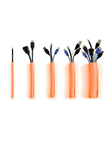 Multibrackets 4559 kaapelinjärjestäjä Kaapelisukka Oranssi 1 kpl Multibrackets 7350073734559 - 5