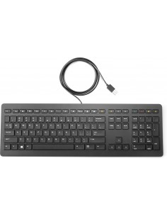 HP Z9N38AA tangentbord USB QWERTY Svart Hp Z9N38AA#ABB - 1