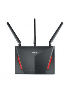 ASUS RT-AC86U wireless router Gigabit Ethernet Dual-band (2.4 GHz / 5 GHz) Black Asus 90IG0401-BU9000 - 1