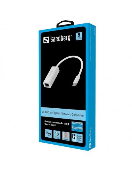 Sandberg USB-C Gigabit Network Adapter 5000 Mbit/s Sandberg 136-04 - 2