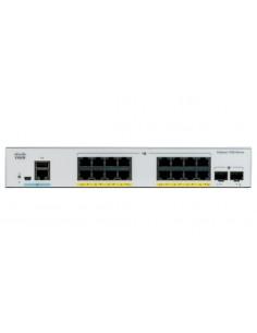 Cisco Catalyst C1000-16FP-2G-L nätverksswitchar hanterad L2 Gigabit Ethernet (10/100/1000) Strömförsörjning via (PoE) stöd Grå C
