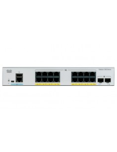 Cisco Catalyst C1000-16FP-2G-L verkkokytkin Hallittu L2 Gigabit Ethernet (10/100/1000) Power over -tuki Harmaa Cisco C1000-16FP-