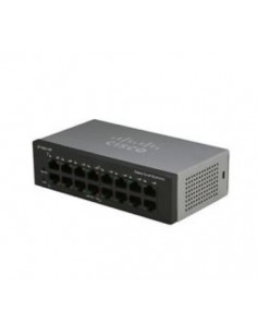 Cisco Small Business SG110-16HP Hallitsematon L2 Gigabit Ethernet (10/100/1000) Power over -tuki Musta Cisco SG110-16HP-EU - 1