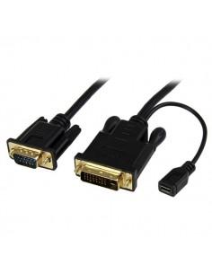 StarTech.com DVI2VGAMM6 videokabeladapter 1.9 m VGA (D-Sub) DVI-D + USB Svart Startech DVI2VGAMM6 - 1