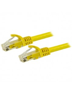 StarTech.com 15m CAT6 Ethernet Cable - Yellow CAT 6 Gigabit Wire -650MHz 100W PoE RJ45 UTP Network/Patch Cord Snagless w/Strain
