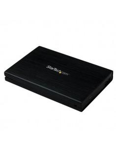 """StarTech.com 2,5"""" USB 3.0 extern SATA III SSD hårddiskkabinett i aluminium med UASP för 6 Gbps - Bärbar HDD Startech S2510BMU33"""