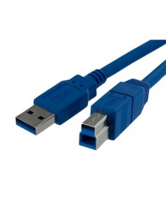 StarTech.com USB3SAB10 USB-kablar 3.05 m USB A B Blå Startech USB3SAB10 - 1