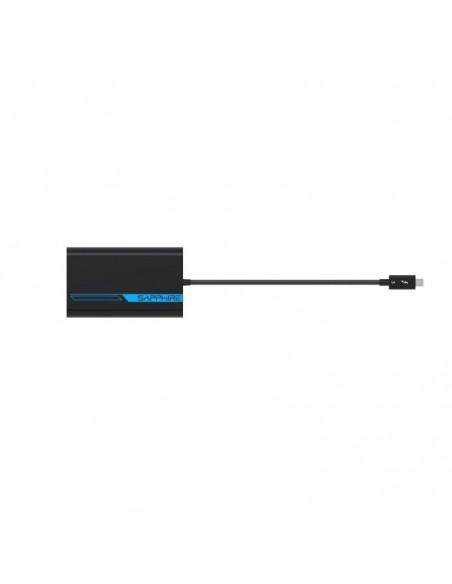 Sapphire 44005-02-20G videokaapeli-adapteri 0.28 m Thunderbolt 3 2 x HDMI Sininen, Harmaa Sapphire Technology 44005-02-20G - 2