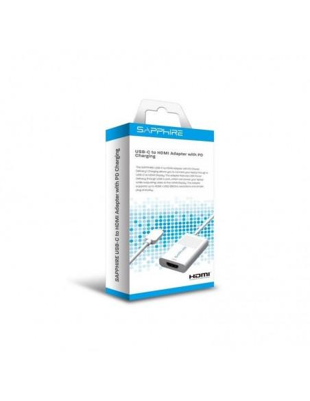 Sapphire 44005-03-20G videokaapeli-adapteri USB Type-C HDMI + Valkoinen Sapphire Technology 44005-03-20G - 2