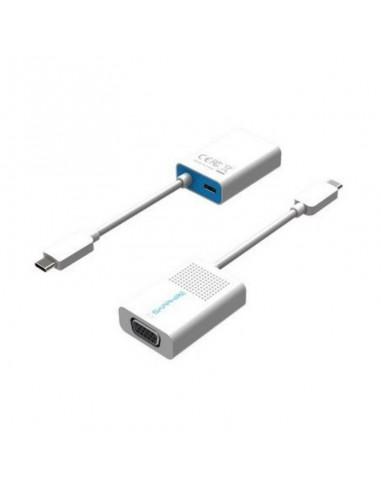 Sapphire 44005-04-20G videokaapeli-adapteri USB Type-C VGA (D-Sub) + Valkoinen Sapphire Technology 44005-04-20G - 1