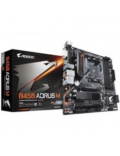 Gigabyte B450 AORUS M (rev. 1.0) AMD Uttag AM4 micro ATX Gigabyte B450 AORUS M - 1