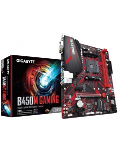 Gigabyte B450M GAMING moderkort AMD B450 Uttag AM4 micro ATX Gigabyte B450M GAMING - 1