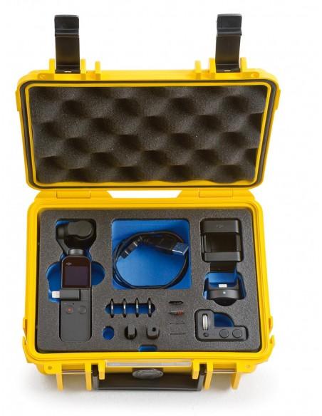 B&W Type 500 DJI Osmo Pocket kameradroonin kotelo Salkku Keltainen Polypropeeni (PP) B&w International 500/Y/OSMOP - 4