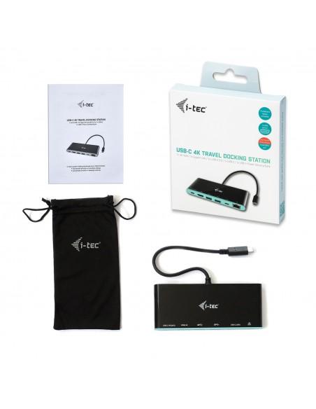 i-tec C31MINIDOCK4KPD kannettavien tietokoneiden telakka ja porttitoistin Langallinen USB 3.2 Gen 2 (3.1 2) Type-C Musta I-tec D