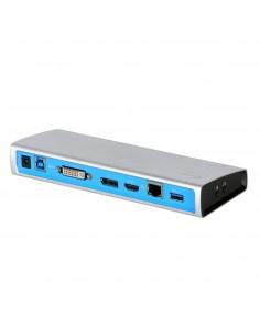 i-tec Metal U3METALDOCK kannettavien tietokoneiden telakka ja porttitoistin Telakointi Musta, Sininen, Hopea I-tec Docking Stati
