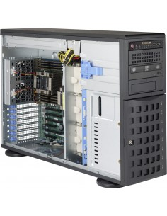 Supermicro 745TQ-R920B Full Tower Black Rack-mountable Workstation / Server Case with 920W 80PLUS Platinum Redundant Power Super