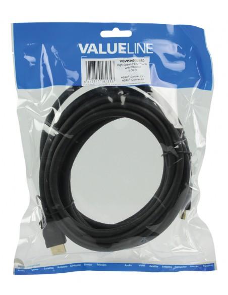Valueline VGVP34000B50 kaapeli liitäntä / adapteri HDMI Musta Valueline VGVP34000B50 - 4