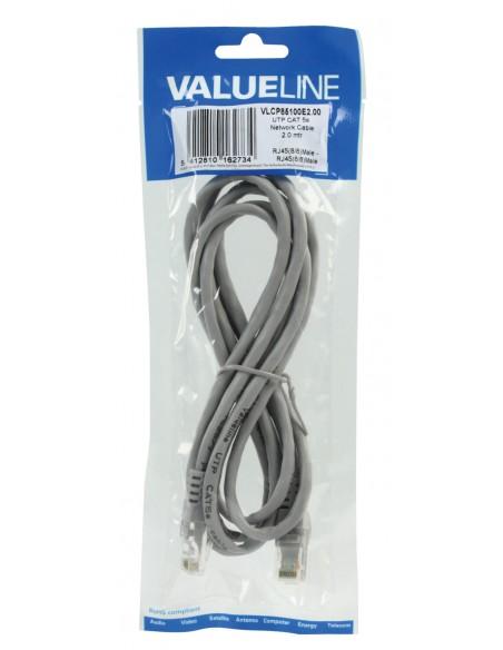 Valueline 2m Cat5e UTP verkkokaapeli Harmaa Valueline VLCP85100E2.00 - 3