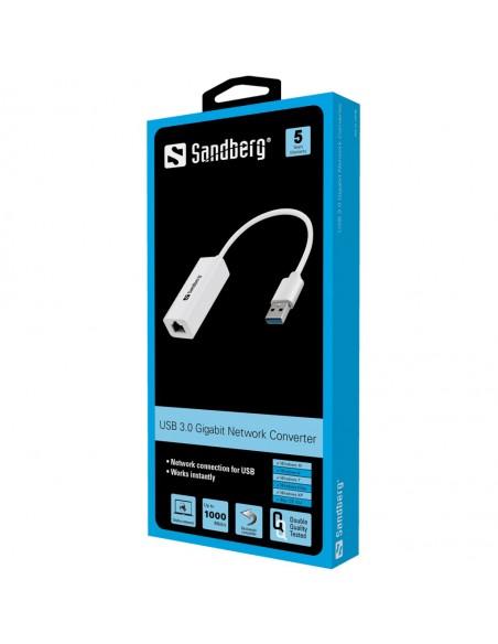 Sandberg USB3.0 Gigabit Network Adapter Sandberg 133-90 - 2
