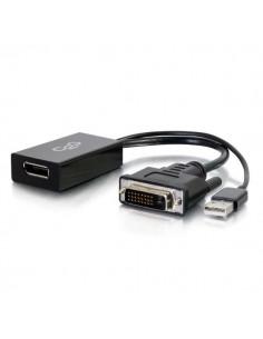 C2G 81319 cable gender changer USB-A, DVI-I DisplayPort Black C2g 81319 - 1
