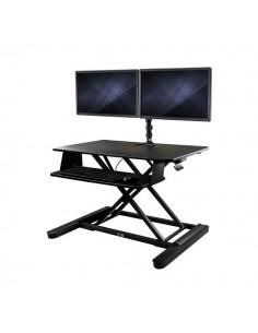 StarTech.com Höj- och sänkbar skrivbordskonverterare med dubbla skärmar - 90 centimeter bred arbetsyta Startech BNDSTSLGDUAL - 1