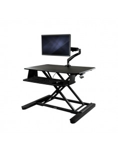 """StarTech.com Sit-Stand Desk Converter with Monitor Arm - 35"""" Wide Work Surface For up to 26"""" Startech BNDSTSLGSLIM - 1"""