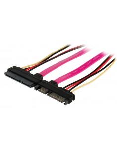 Valueline VLCP73125V05 SATA-kaapeli 0.5 m SATA 22-pin Musta, Vaaleanpunainen Valueline VLCP73125V05 - 1