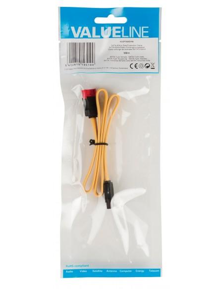 Valueline SATA, 0.5m SATA-kaapeli 0.5 m SATA 7-pin Keltainen Valueline VLCP73205Y05 - 2