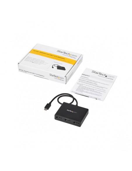 StarTech.com USB C DisplayPort-adapter - 3 portar till DisplayPort MST-hubb Type skärmhubb Startech MSTCDP123DP - 6