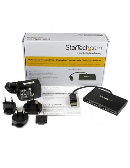 StarTech.com MSTDP124DP videohaaroitin DisplayPort 4x Startech MSTDP124DP - 9