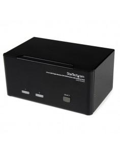 StarTech.com DVI USB KVM-switch för tre skärmar med 2 portar, audio och 2.0-hubb Startech SV231TDVIUA - 1