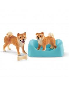 Schleich Farm World Shiba Inu mother and puppy Schleich 42479 - 1