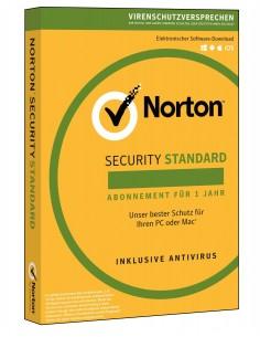 NortonLifeLock Norton Security Standard 3.0 Täysi lisenssi 1 lisenssi(t) vuosi/vuosia Saksa Symantec 21355419 - 1