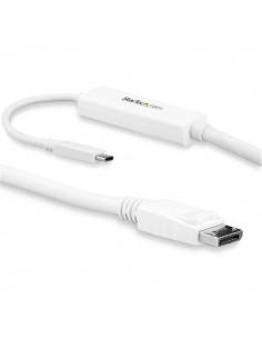StarTech.com 3 m USB-C till DisplayPort-kabel - 4K 60Hz Vit Startech CDP2DPMM3MW - 1