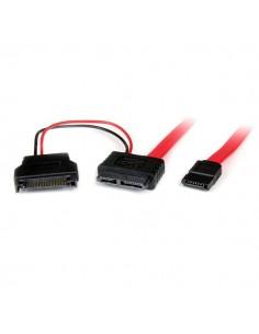 StarTech.com 0.5m SATA SATA-kaapeli 0.5 m 7-pin Musta, Punainen Startech SLSATAF50CMS - 1