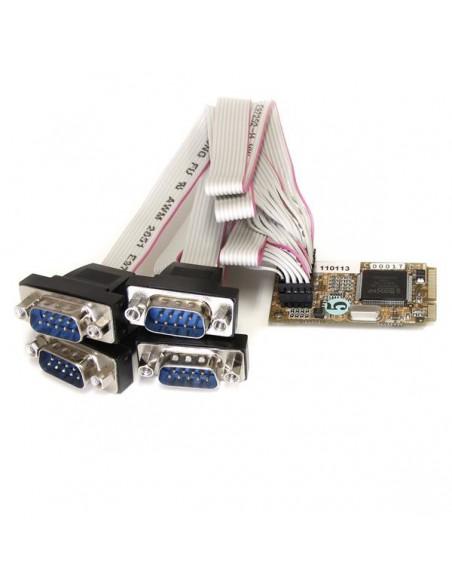 StarTech.com 4 Port RS232 Mini PCI Express Serial Card w/ 16650 UART Startech MPEX4S552 - 1