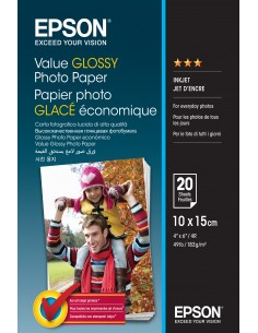 Epson Value Glossy - 10x15cm 20 sheets Epson C13S400037 - 1