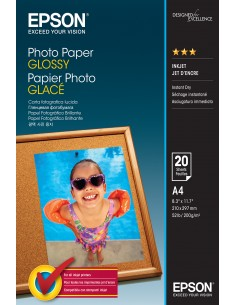 Epson Photo Paper Glossy - A4 20 Ark Epson C13S042538 - 1