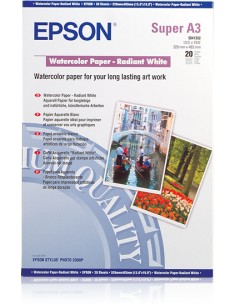 Epson WaterColor Paper - Radiant White, DIN A3+, 190g/m², 20 Sheets Epson C13S041352 - 1