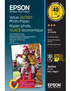 Epson Value Glossy Photo Paper - 10x15cm 2x 20 Arkkia Epson C13S400044 - 1