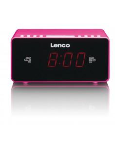Lenco CR-510 radio Kello Musta, Vaaleanpunainen Lenco CR510P - 1