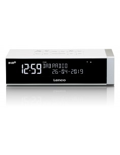 Lenco CR-630-DAB+ radio Kello Digitaalinen Valkoinen Lenco CR630DAB+WHITE - 1