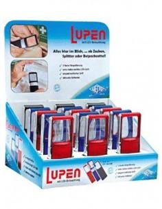 Wedo LED Magnifier suurennuslasi Musta, Sininen, Punainen 3x Wedo 271751599 - 1