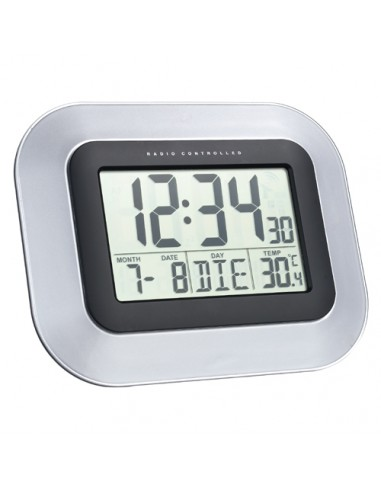 Technoline WS 8005 Radio controlled wall clock Musta, Hopea Technoline WS 8005 - 1