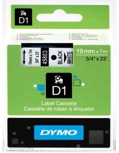 DYMO D1 - vakiopolyesteritarrat Mustaa valkoisella -19mm x 7m Dymo S0720830 - 1
